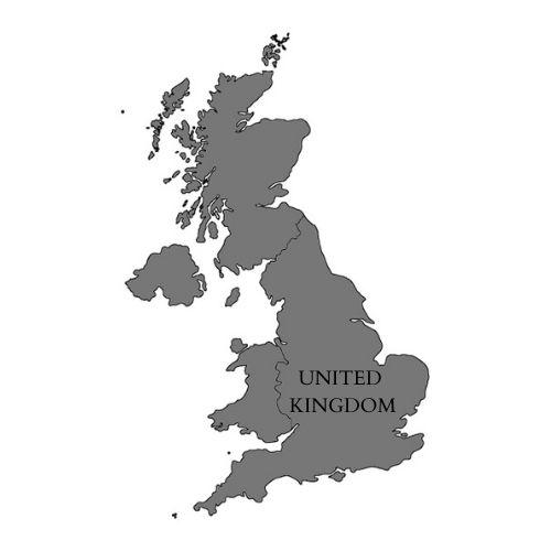 Mapa del Reino Unido.