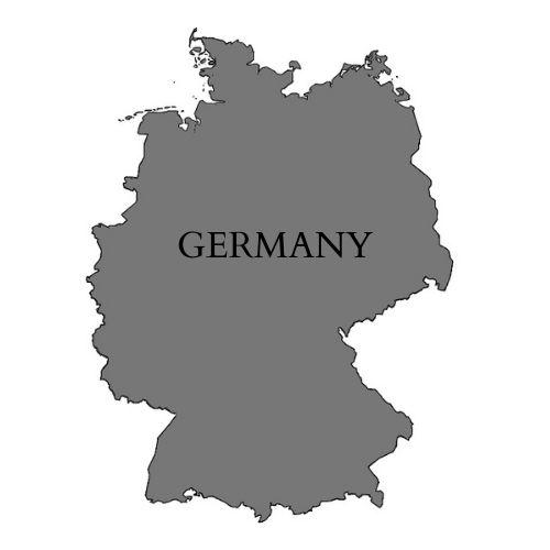 Mapa de Alemania.