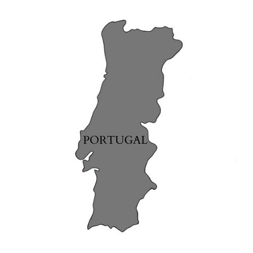 Mapa de Portugal.