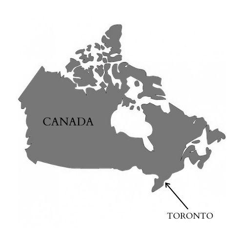Mapa de Canadá, Toronto.